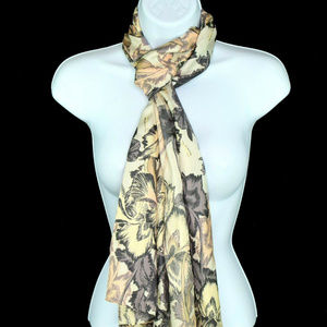 Echo New York Silk Floral Rectangle Wrap Scarf New